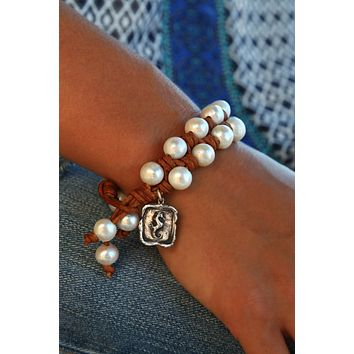 Nautical Knotted Leather Bracelet