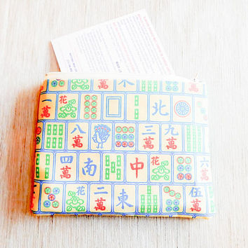 Mah Jongg Card Pouch/ Gift for Women/ Gift for Her/ BFF Gift/ Birthday Gift/ Bridesmaid Gift/ Make Up Bag/ Gift for Best Friend/ Wife Gift