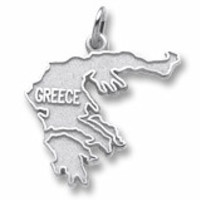 Greece Charm In Sterling Silver