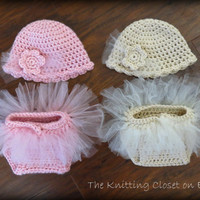 Crochet Baby Diaper Cover Pattern and Hat Pattern - Soaker Pattern - Tutu - Ballet