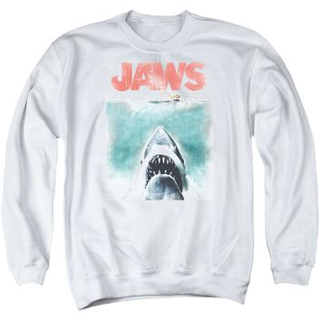 Jaws - Vintage Poster Adult Crewneck Sweatshirt Officially Licensed Apparel