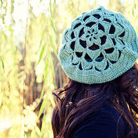PDF Crochet Pattern Flower Top Tam by UnravelMe on Etsy