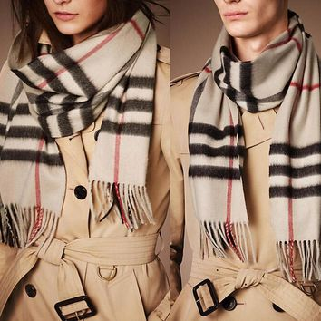 Classic Super Soft Cashmere Feel Winter Scarf Gift for Women Men