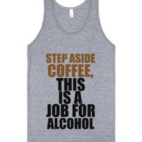 C - Coffee, Alcohol-Unisex Athletic Grey Tank