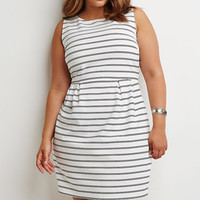 Textured Stripe Sheath Dress