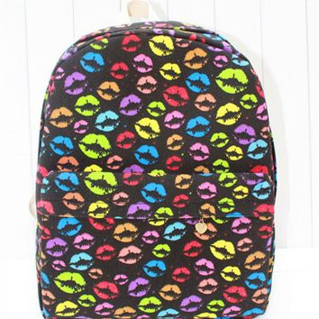 ONETOW Punk Canvas Print Sexy Backpack = 4887576580