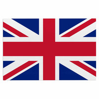 "Bruce Stanfield ""Classic Union Jack"" Blue Red Decorative Door Mat"