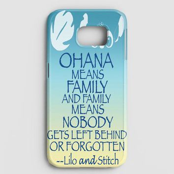 Ohana Means Family Lilo And Stitch Samsung Galaxy Note 8 Case