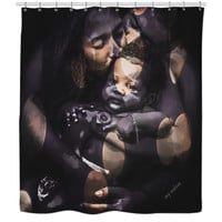 Black Beauty African American Art Shower Curtain