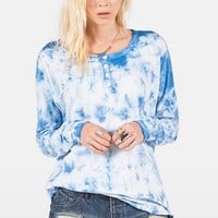 Junior Women's Volcom 'Hello Again' Long Sleeve Henley