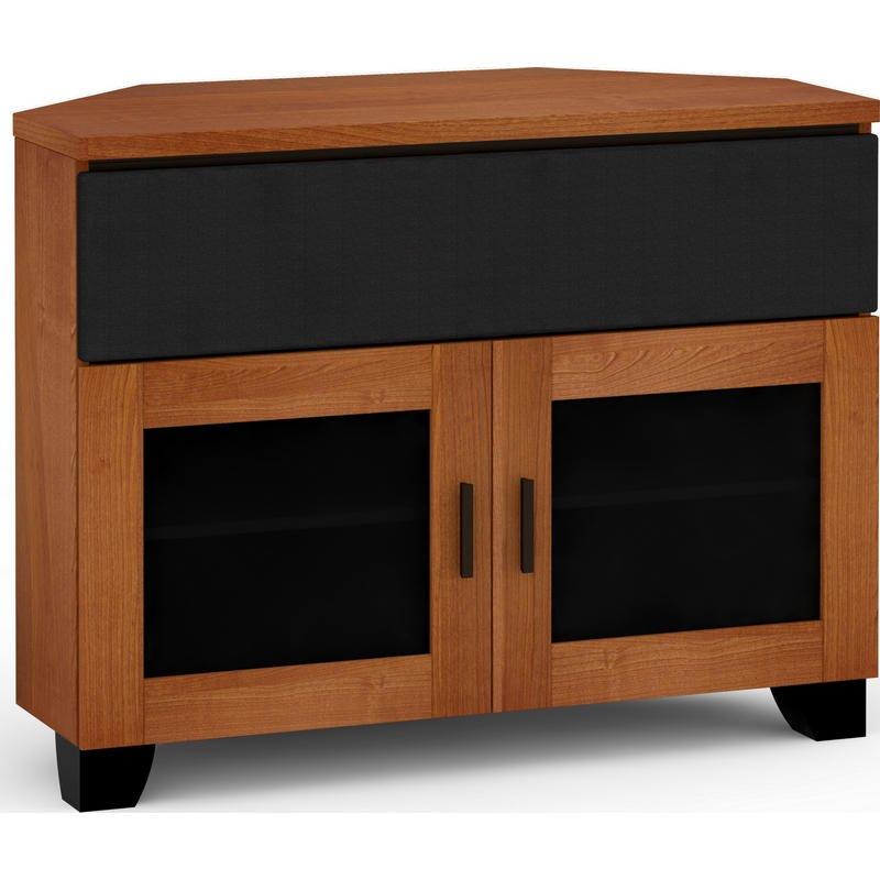 elba 44 inch extra tall corner tv stand from dynamic home