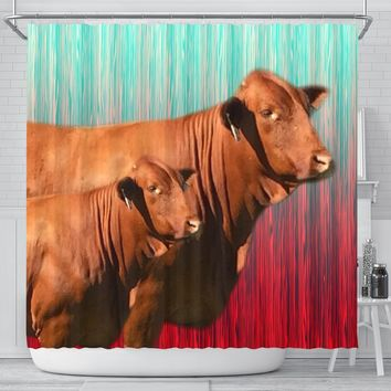 Beefmaster Cattle (Cow) Print Shower Curtain-Free Shipping