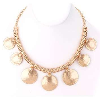 Hammered Discs Turkish Collar Necklace