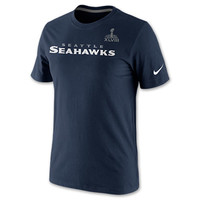 Men's Nike Seattle Seahawks NFL Super Bowl Bound Roster T-Shirt