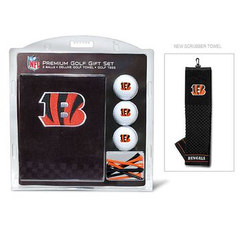 Cincinnati Bengals Golf Gift Set with Embroidered Towel