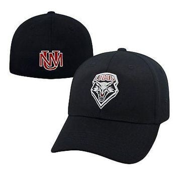 Licensed New Mexico Lobos Official NCAA One Fit Premium Cuff Hat Cap by Top of the World KO_19_1