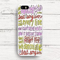 Best Song Ever Lyrics 1D iPhone 4s 5s 5c 6s Cases, Samsung Case, iPod case, HTC case, Xperia case, LG case, Nexus case, iPad case