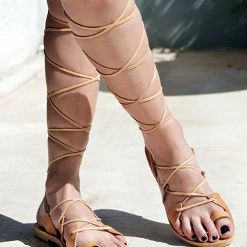 Leather Sandals, Gladiator Sandals, Lace up sandals, Handmade Greek sandals for women