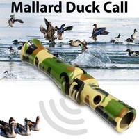 SGODDE Hot Sale 11.5x2.5cm Plastic Camouflage Duck Pheasant Mallard Hunting Call Caller Hunting Decoys for Calling Wild Duck