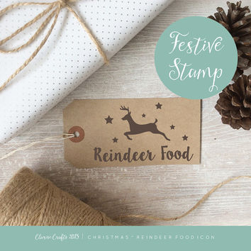 Reindeer Food Icon Christmas Stamp