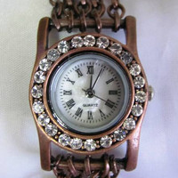 Antique Style Crystal Bracelet Watch. 30% Off - 64 Dolars Only. FREE SHIPPING