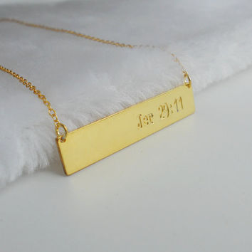 Bible Verse Necklace,Bible Verse Bar Necklace,Gold Bar Necklace,Personalized Bible Verse Jewelry,Bible Chapters Necklace,Jer 29:11 Necklace