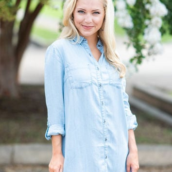 Something To Remember Dress, Chambray