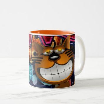 Graffiti Two Tone Cat Mug