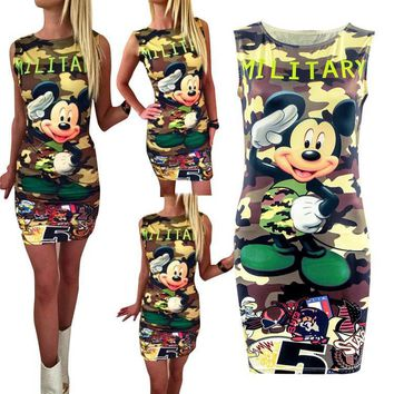2017 Camouflage Double Print New Fashion Summer Dress 2017 Casual Sexy Mini Dress Vestidos Women Dress Dresses Vestido WD369