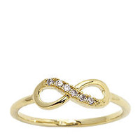 New Directions® Pave Infinity Ring