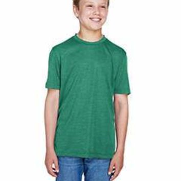 Team 365 - Youth Sonic Heather Performance T-Shirt