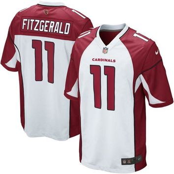 Mens Arizona Cardinals Larry Fitzgerald Nike White Game Jersey