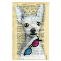 Dog Art Painting Chihuahua Original Mixed Media by VincenzoRizzo
