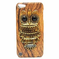 Wood Pattern Plastic Owl IPod Touch.. on Luulla