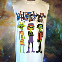 Unisex WHATEVER 90s Cartoon Alien Babes Muscle by fASHLINdotcom