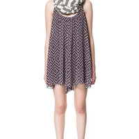 PRINTED STRAPPY DRESS - Dresses - Woman - ZARA United States