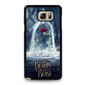BEAUTY AND THE BEAST ROSE IN GLASS Samsung Galaxy Note 5 Case Cover