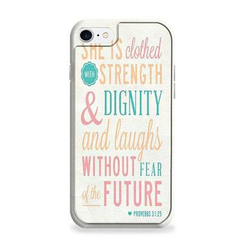 Bible Verse (she is clothed colorful) iPhone 6 | iPhone 6S Case