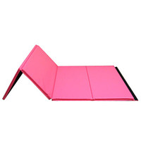 8ft Pink Folding Mat for Gymnastics by Nimble Sports