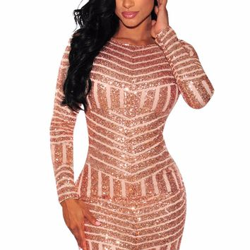 Women Bodycon Club Dresses 2017 Geometric Sequin Backless Mini Party Night Club Dress Femme Robe Vestidos Sexy 2017 Fashion