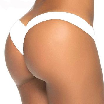 TDFunlive high waist thong bikini swimwear women thong bathing suits swimsuit brazilian biquini thong swimming bikinis bottoms