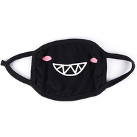 Monster Grin Black Surgical Mask