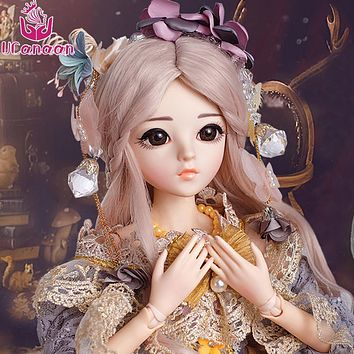 Dolls Wig&Makeup 18 Joints Body Reborn Girls Beauty  Handmade Clothes Shoes Princess Dolls Toys