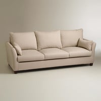 Stone Luxe 3-Seat Sofa Slipcover - World Market