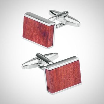 Low-key Luxury Wood Cuff-links for Men