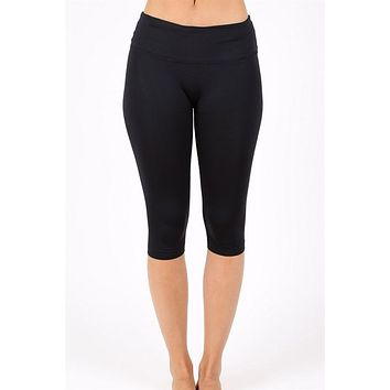 High Waisted Capri Yoga Leggings