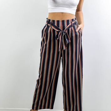 The Difference Navy & Rust Striped Pants
