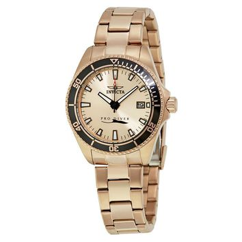 Invicta Pro Diver Rose Dial Ladies Watch 15137