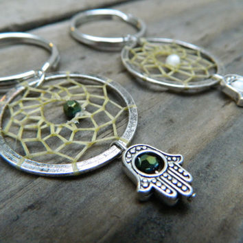 Hamsa Hand Dream Catcher Keychain