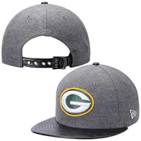 Green Bay Packers New Era Step Out 9FIFTY Adjustable Hat – Gray/Black